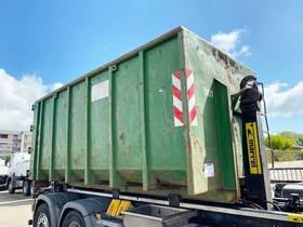 - Abrollcontainer mit Flügeltüren ca. 18m³