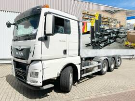 WESER CONTAINERBAU Abrollcontainer ca. 6m³ mit Kran, Funk